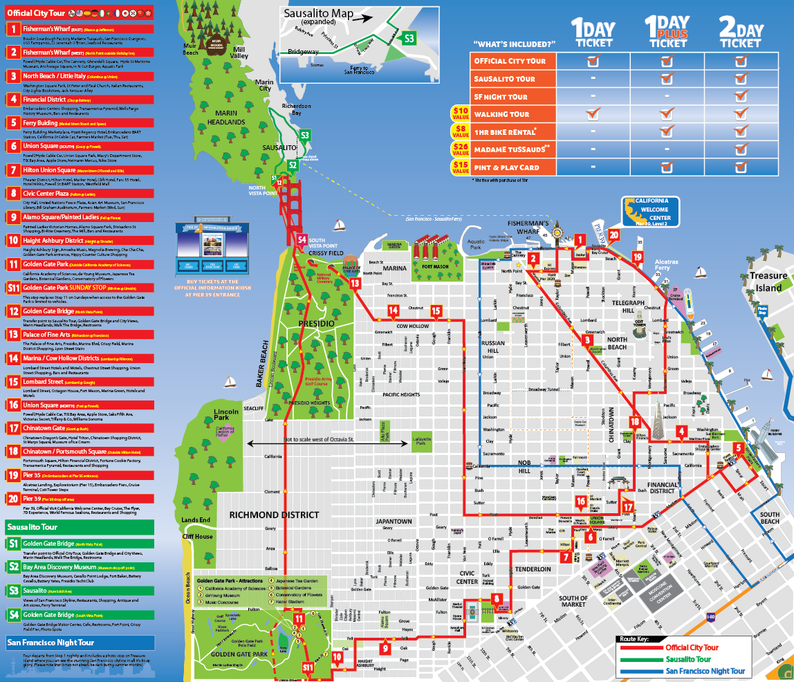 City Sightseeing San Francisco Hop-On, Hop-Off: 1-Day or 2-Day Ticket