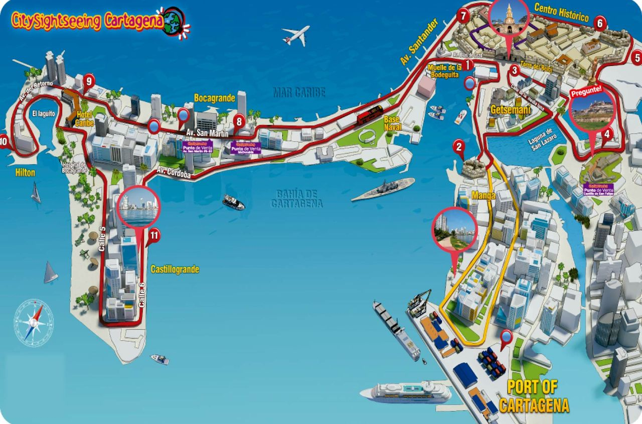 City Sightseeing Cartagena: Hop-On, Hop-Off Bus Tour with Free ... on