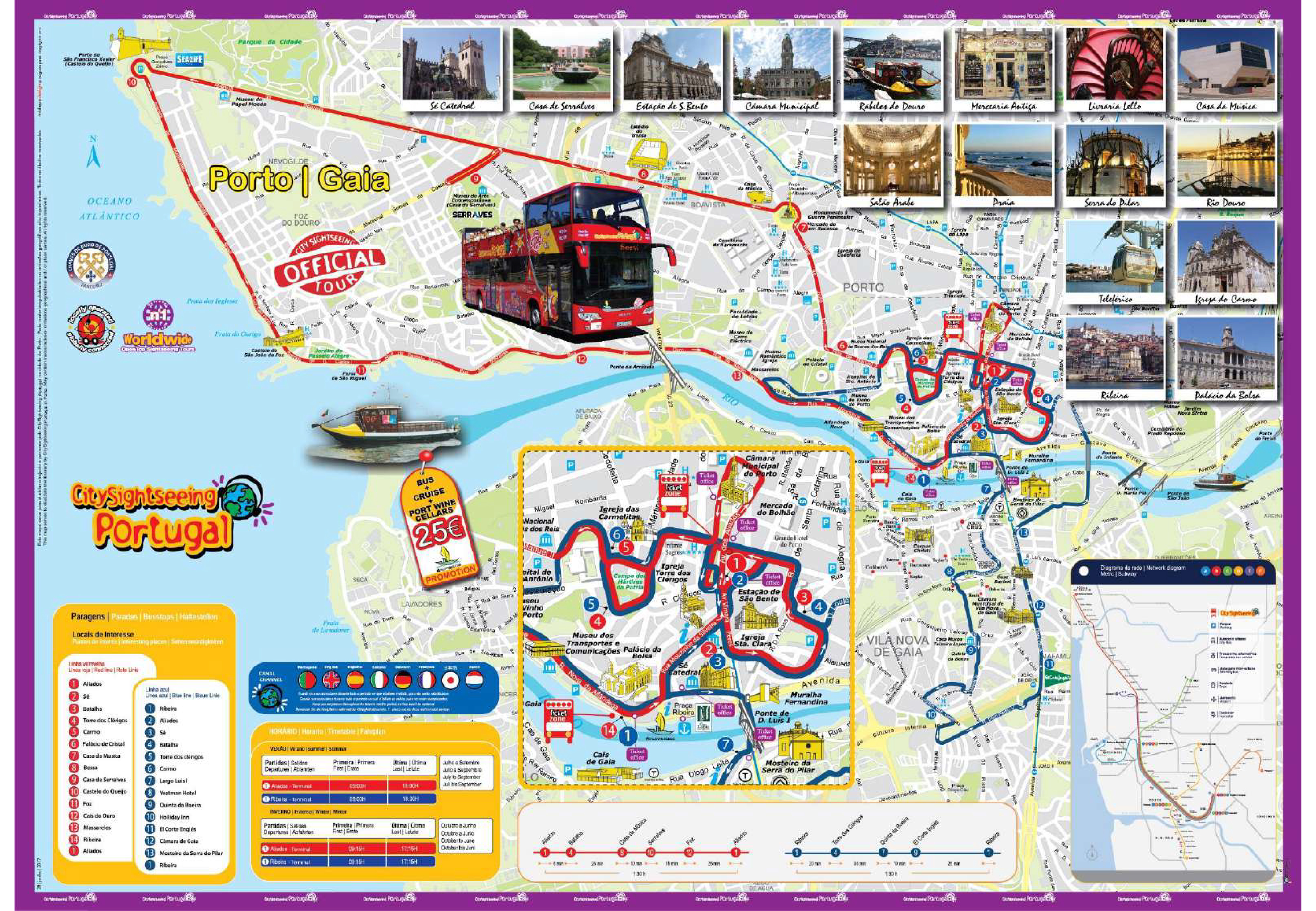 City Sightseeing Porto Hop On Hop Off Bus Tour