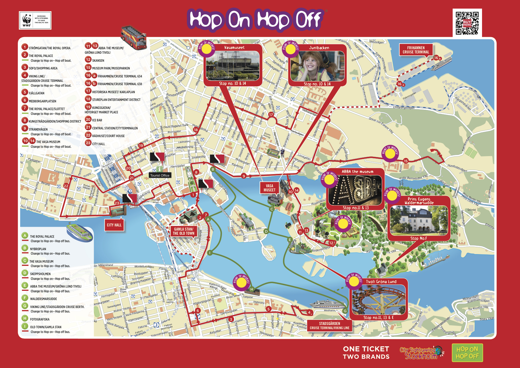 miami hop on hop off tour map City Sightseeing Stockholm Hop On Hop Off Bus And Or Boat Tour miami hop on hop off tour map