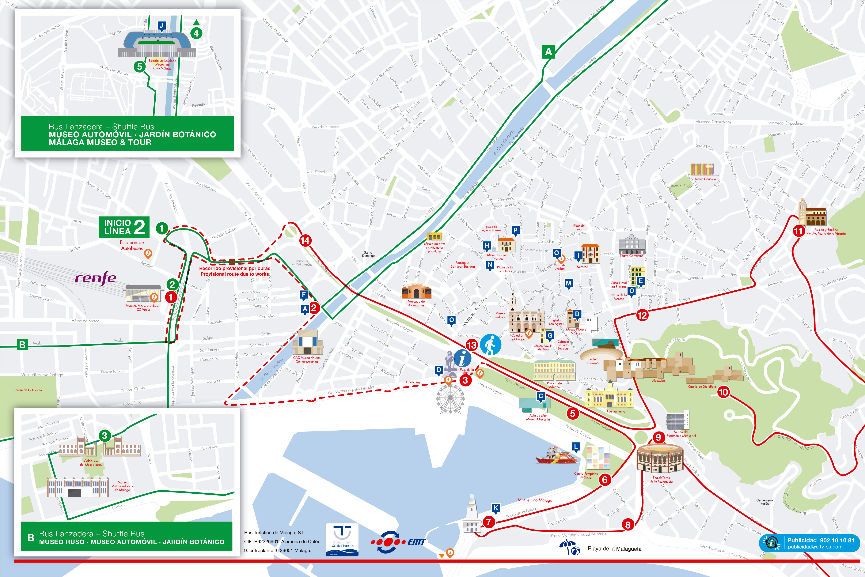 Mapa Turistico De Malaga.Tour Autobus Turistico Malaga Reserve Online