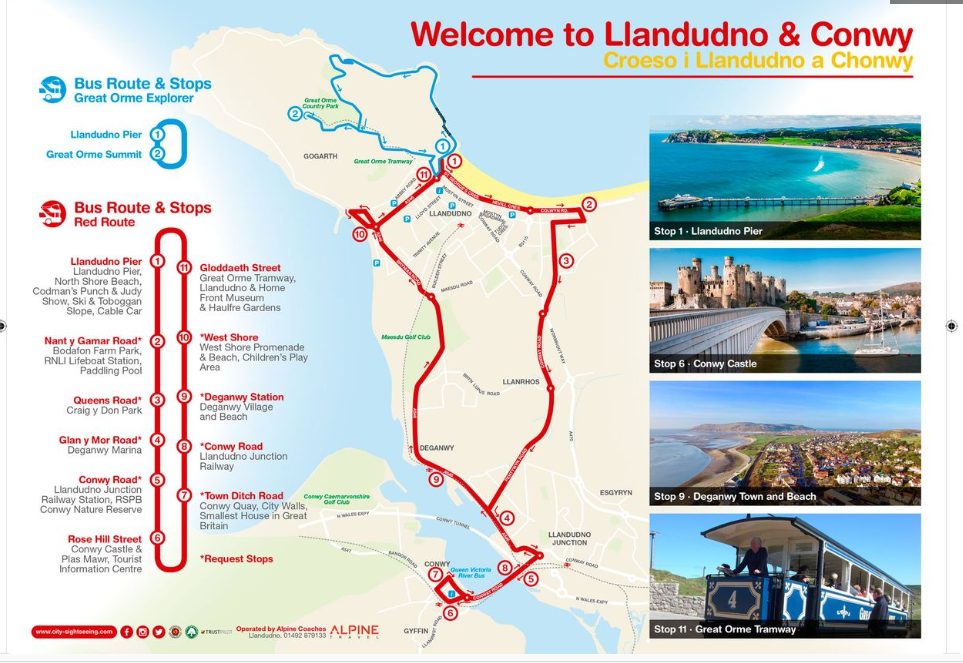 Llandudno And Conwy Hop On Hop Off Tour