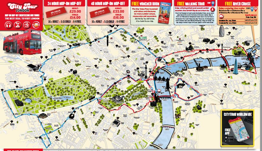 London City Tour Map Archives Areas Of Tourism Attractions