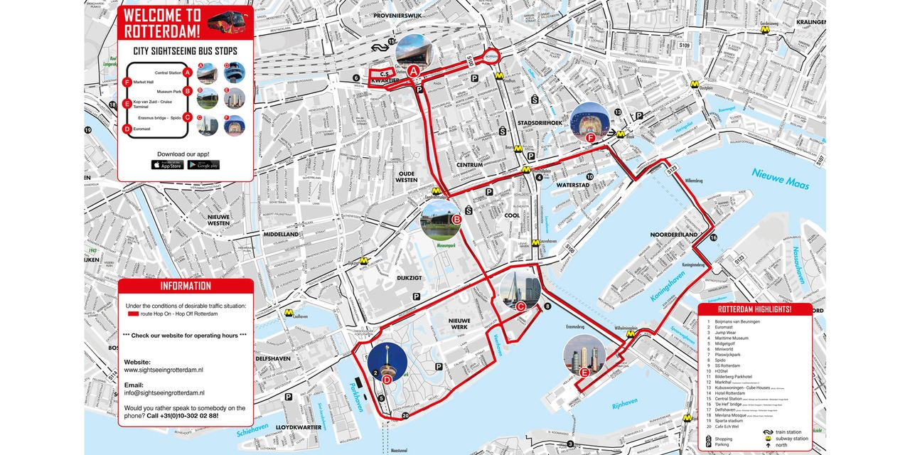 City Sightseeing Rotterdam: Hop-On, Hop-Off Bus tour 24 and 48 Hours ...