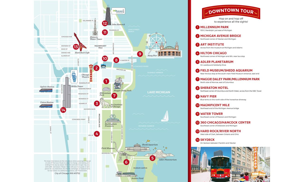 Hop On Hop Off Chicago Map.City Sightseeing Chicago Hop On Hop Off Night Tour