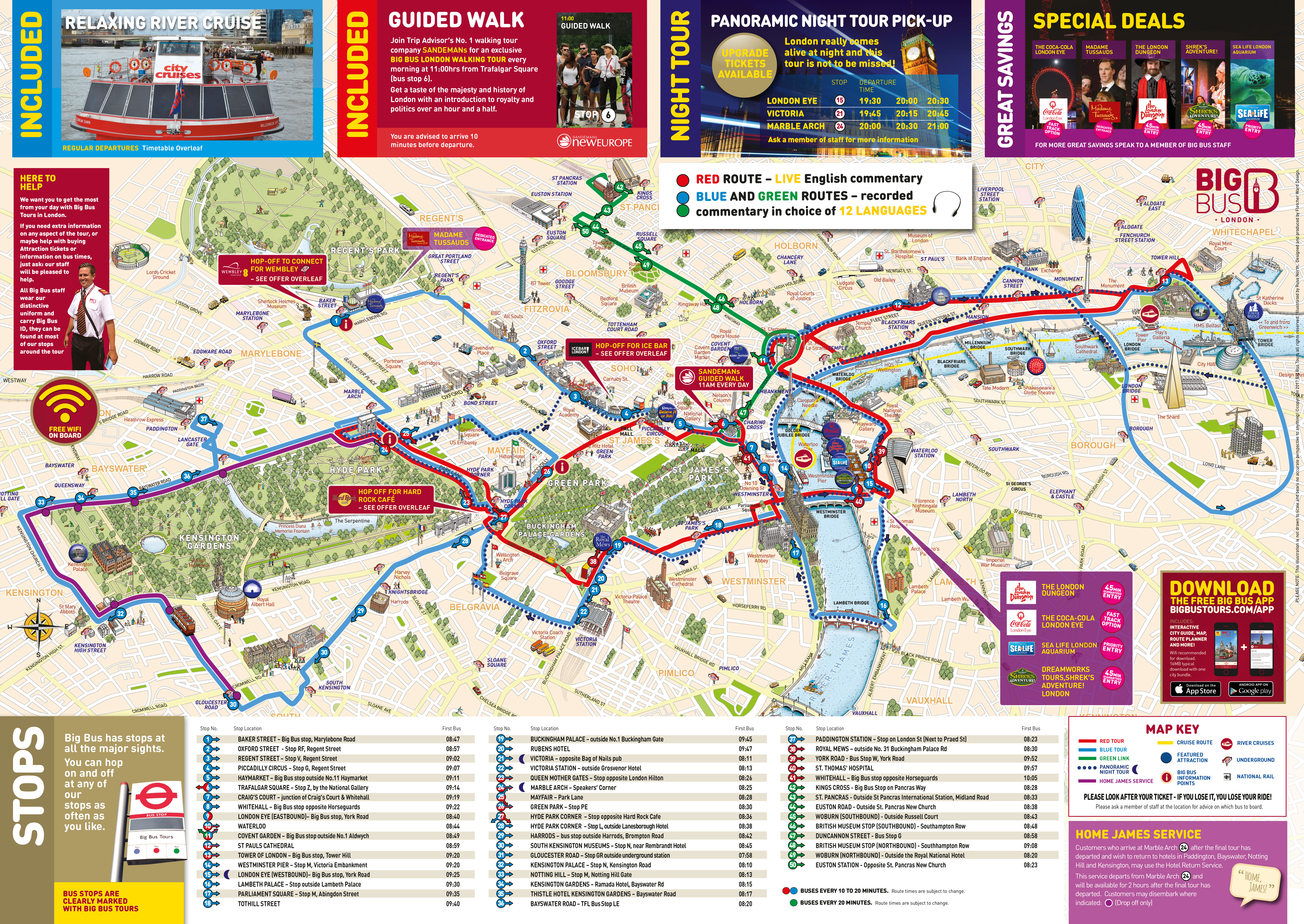 London Walking Tour Map Pdf.Big Bus London Hop On Hop Off Tour